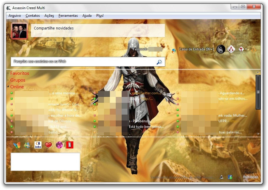 A alma do assassino no MSN.
