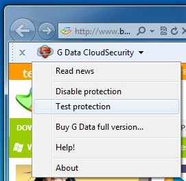 CloudSecurity no IE 9.