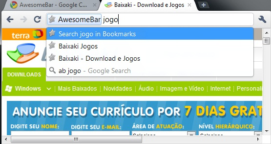 AwesomeBar - Imagem 2 do software