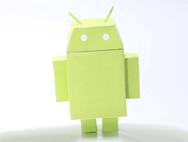Google Android Paper Toy