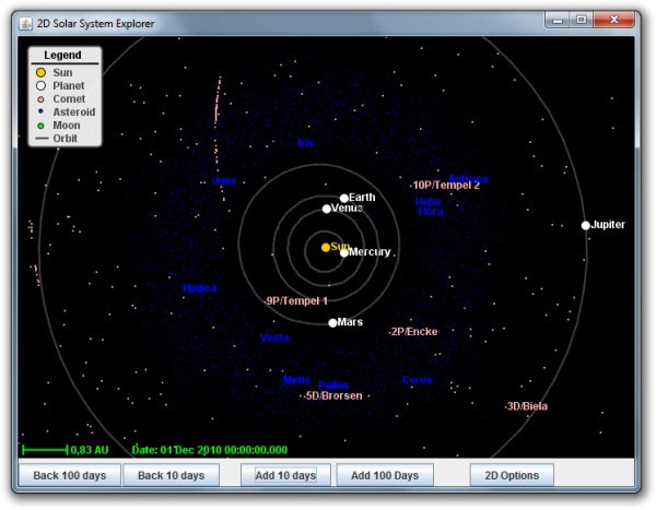 2D Solar System Explorer - Imagem 1 do software
