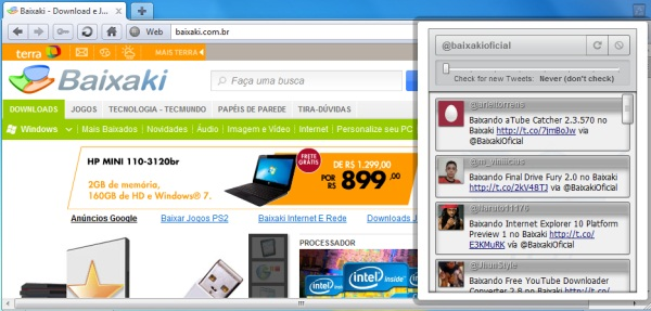 TwitterSearch for Opera - Imagem 1 do software