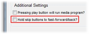 Hold skip buttons to fast-forward/back?