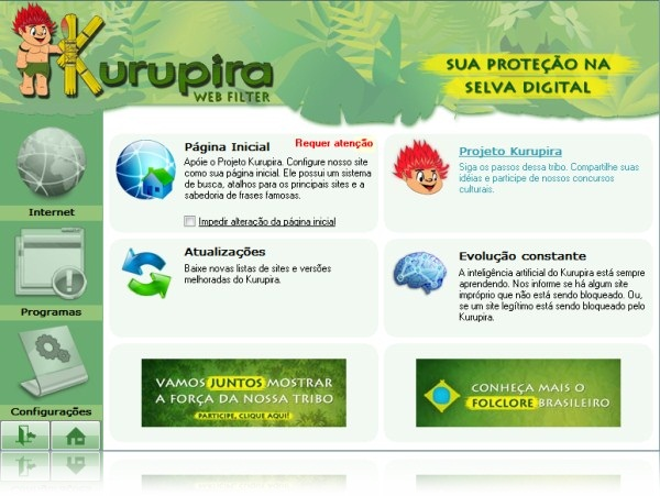 Kurupira WebFilter Free - Imagem 1 do software