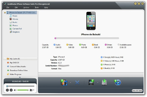 iPhone Software Suite Pro for Mac - Imagem 1 do software