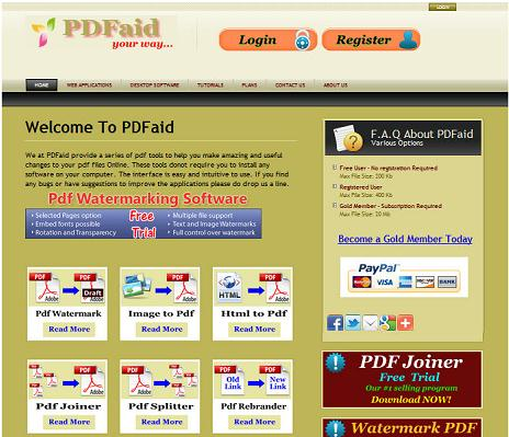 PDFaid - Imagem 1 do software