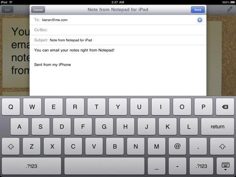Notepad for iPad - Imagem 2 do software