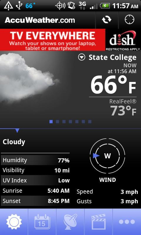 AccuWeather para Android - Imagem 1 do software