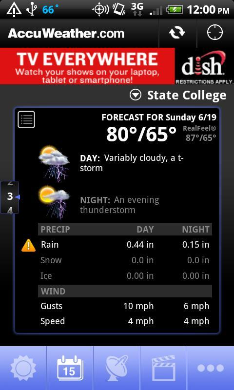 AccuWeather para Android - Imagem 3 do software