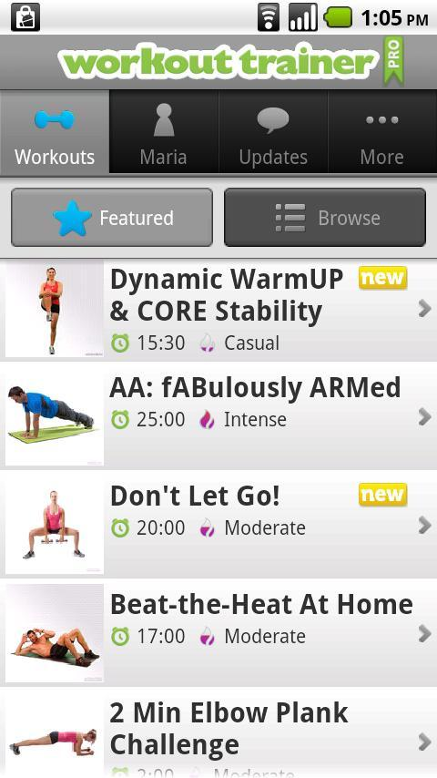 Workout Trainer - Imagem 2 do software