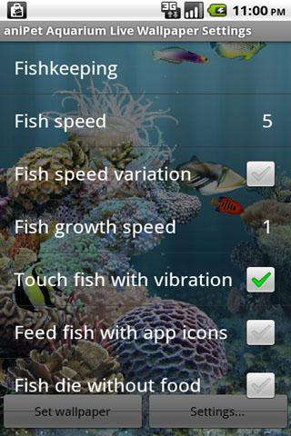 aniPet Aquarium Live Wallpaper - Imagem 2 do software