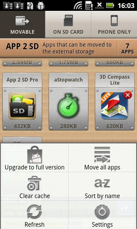 App 2 SD - Imagem 4 do software