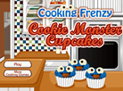 Cooking Frenzy - Cookie Monster Cupcakes