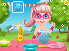 Baby Barbie Cooking Cotton Candy