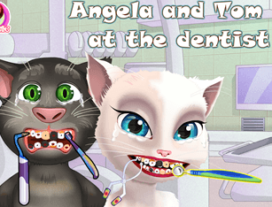 Angela and Tom at the Dentist