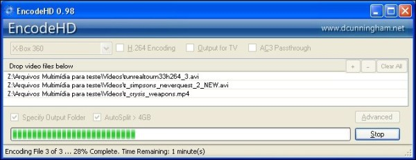 EncodeHD - Imagem 2 do software