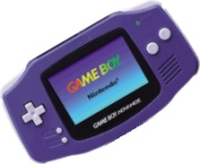 O primeiro modelo do Game Boy Advance.