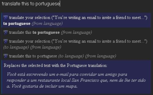 translate this to portuguese