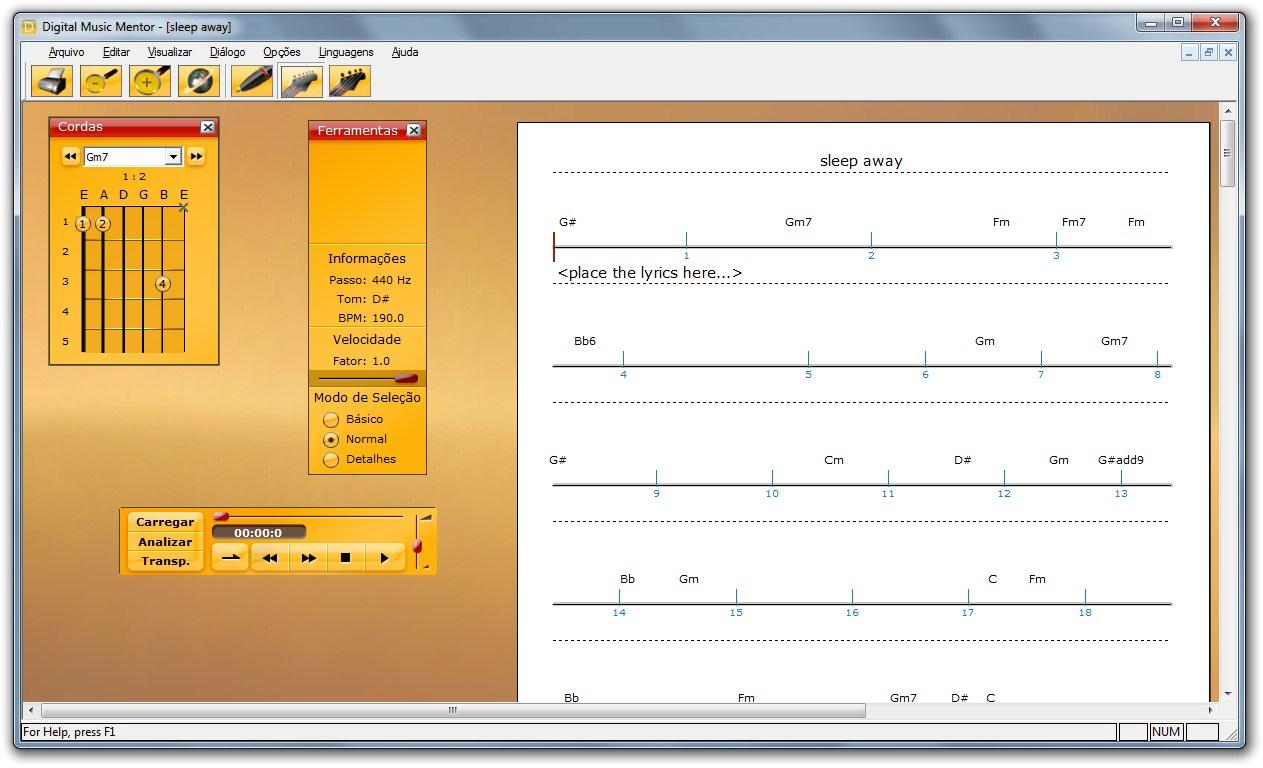 Digital Music Mentor - Imagem 1 do software