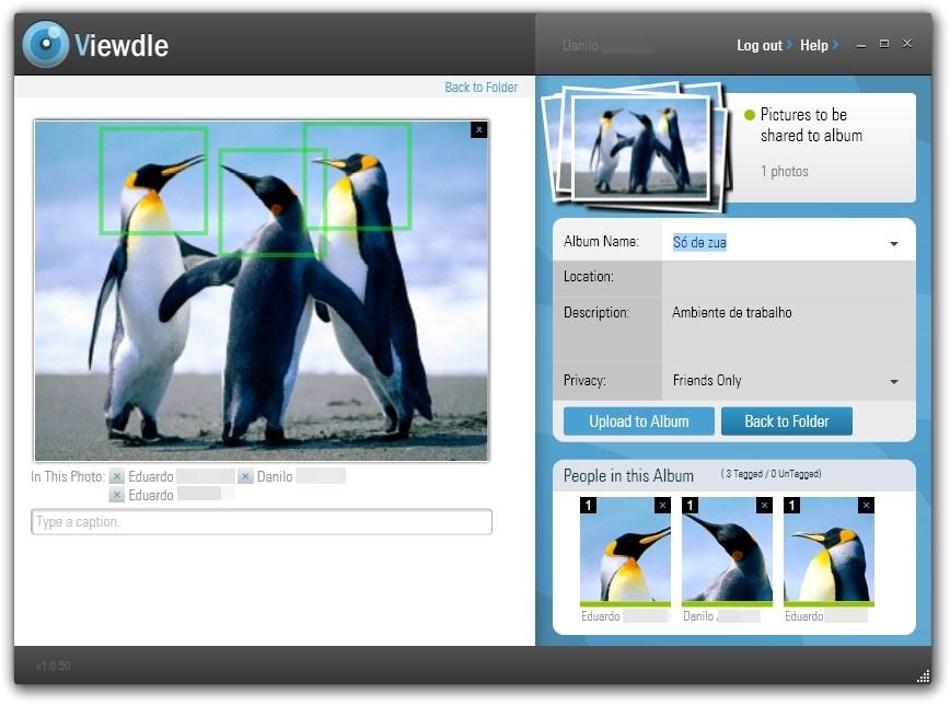 Viewdle Uploader - Imagem 1 do software