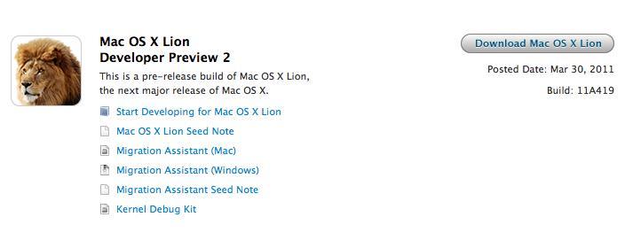 Mac OS X Lion Developer Preview 2 disponível para usuários privilegiados