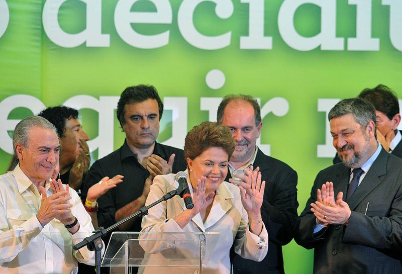 Dilma em seu primeiro pronunciamento