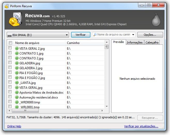 programa para recuperar arquivos deletados em portugues
