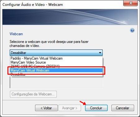 Configurações de Áudio e Vídeo