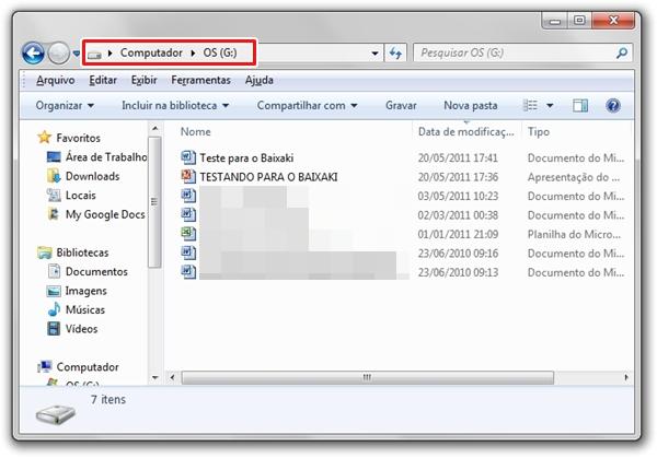 Sincronizando o Google Docs com o computador