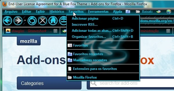 A Blue Fox Theme