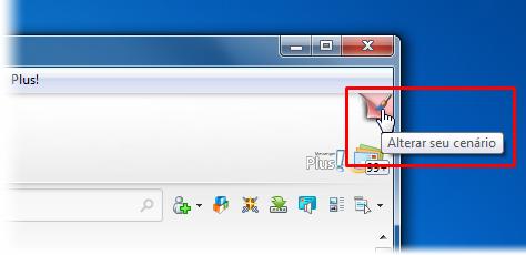 Altere o cenário do seu MSN