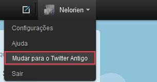 Mudar para o Twitter antigo