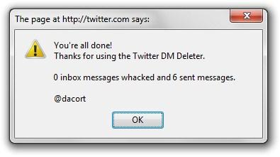 Mensagens apagadas