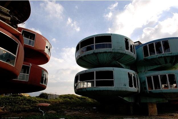 Visão mais próxima da arquitetura das casas