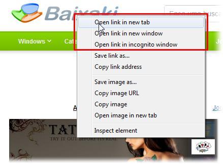 Como forçar o Chrome a abrir um link e janelas popup em nova