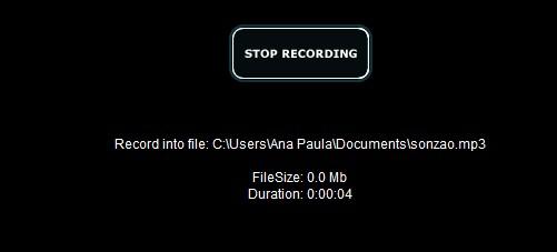 Terminando a gravação