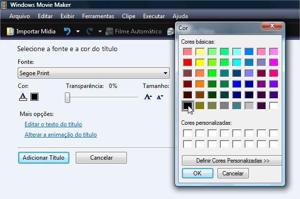 Ajustando as cores