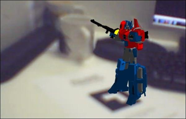 Transformers em Realidade Aumentada.