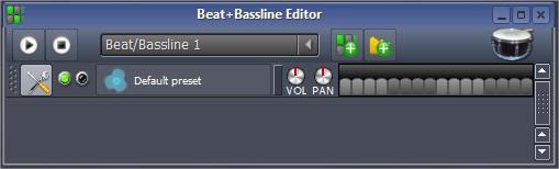 No Beat + Baseline editor você consegue criar novas linhas de base ou batidas para sua música