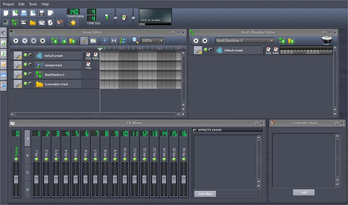 O LMMS pode ser usado para criar ou editar samples de som ou criar músicas completas de maneira prifissional.