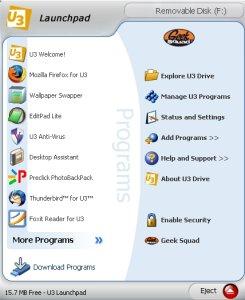 Tela de inicialização de programas