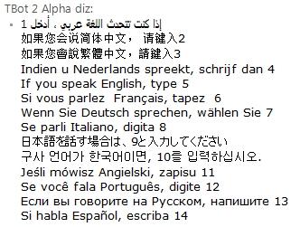 Escolhendo a língua de origem