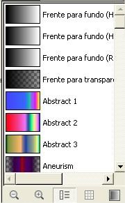 Por último, selecione o tipo de gradiente que você pretende utilizar.