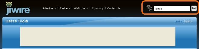 Digite o nome do local que você quer encontrar pontos wi-fi!