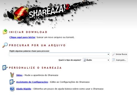 A busca do Shareaza é diferente, centralizada.