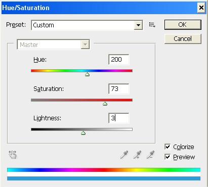 Quanto mais azul, mais vermelha ficará a imagem!