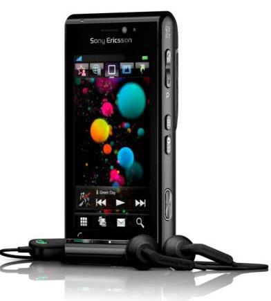 Interface sensível a toque do Sony-Ericsson Satio