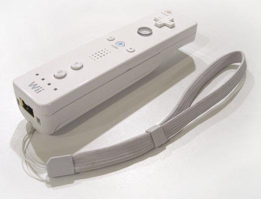 O controle do Nintendo Wii.