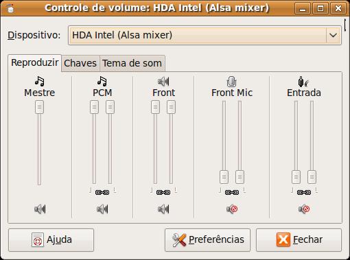 Controle de Volume do Ubuntu