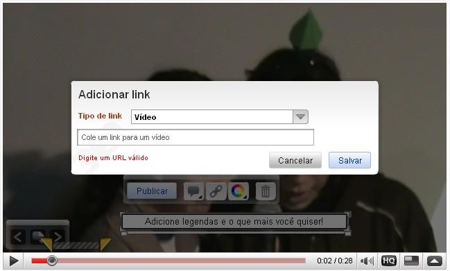 Insira links para outros recursos e vídeos do YouTube!